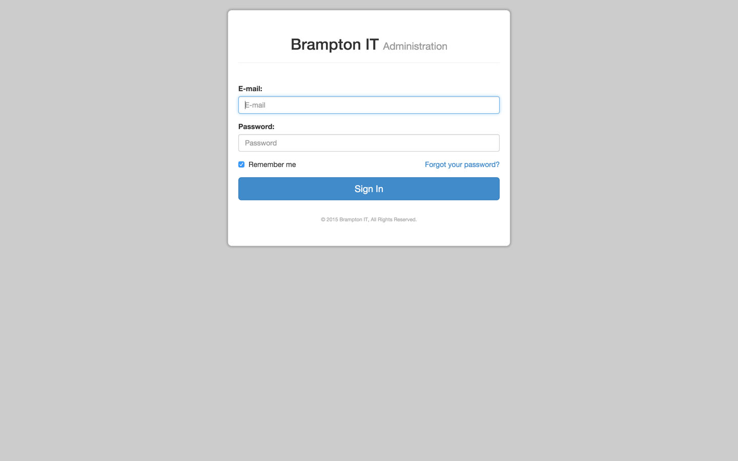 Administration Login Page