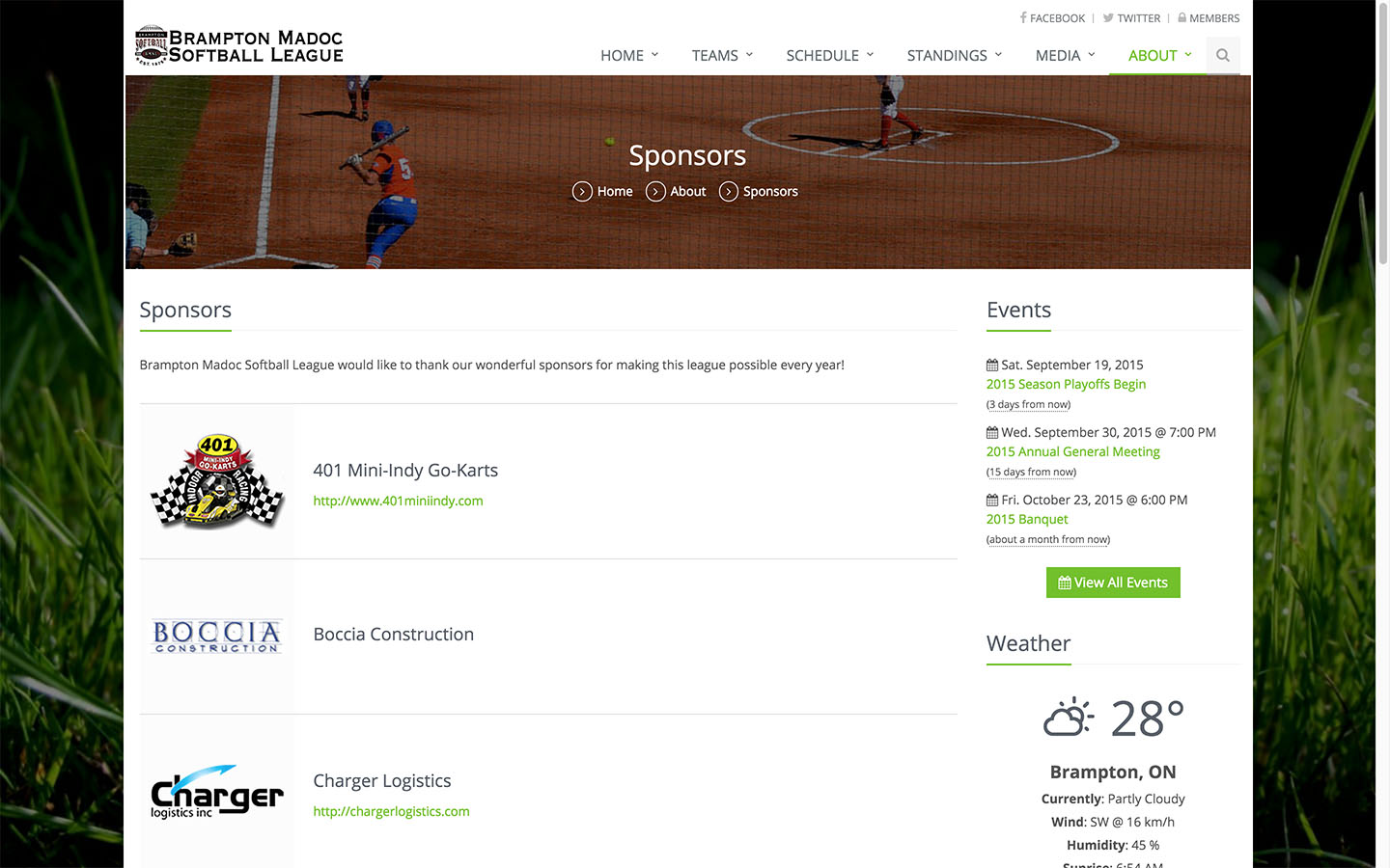 Sponsors Page